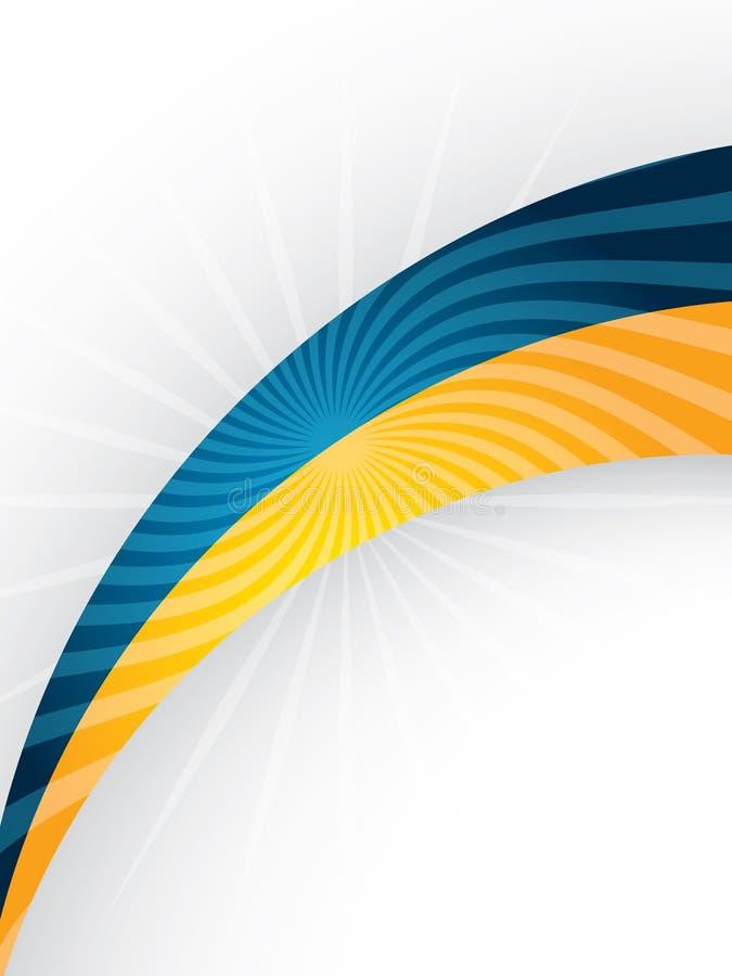 Brochure design with blue and orange curve