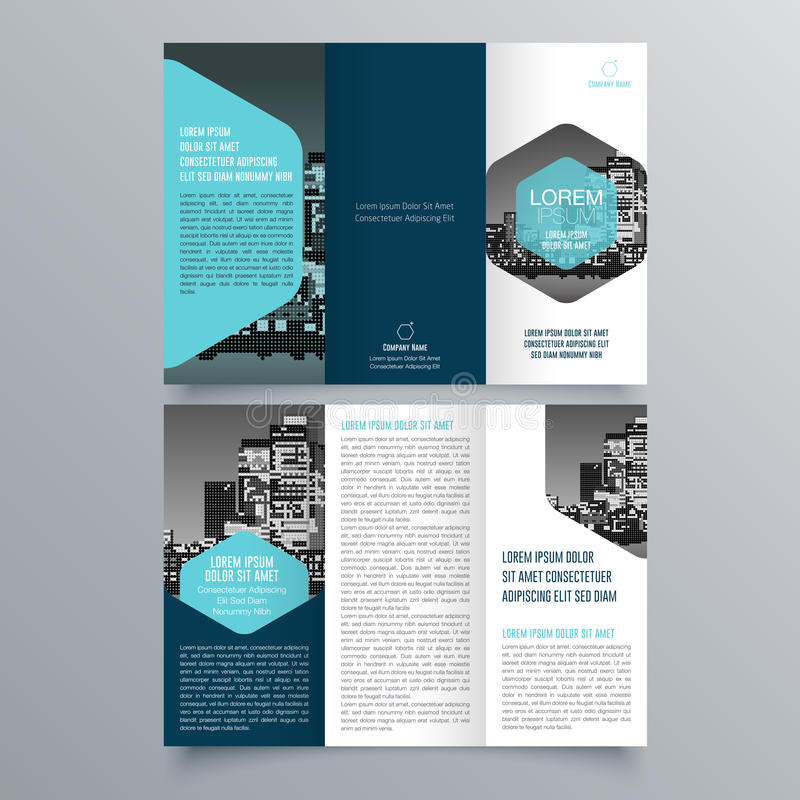 Brochure design, brochure template royalty free illustration