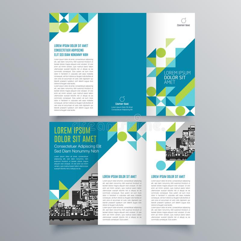 Brochure design, brochure template. Creative tri-fold, trend brochure vector illustration