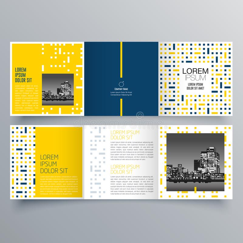 Brochure design, brochure template, creative tri-fold, trend brochure. Publication design, vectorม Printed Media vector illustration