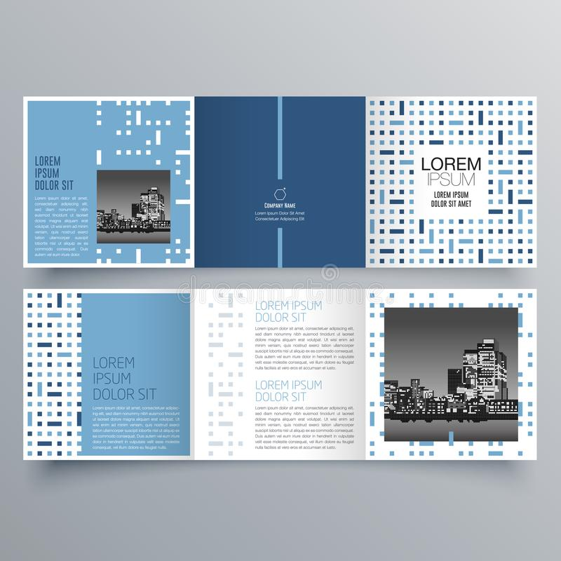 Brochure design, brochure template, creative tri-fold, trend brochure. Publication design, vectorม Printed Media stock illustration
