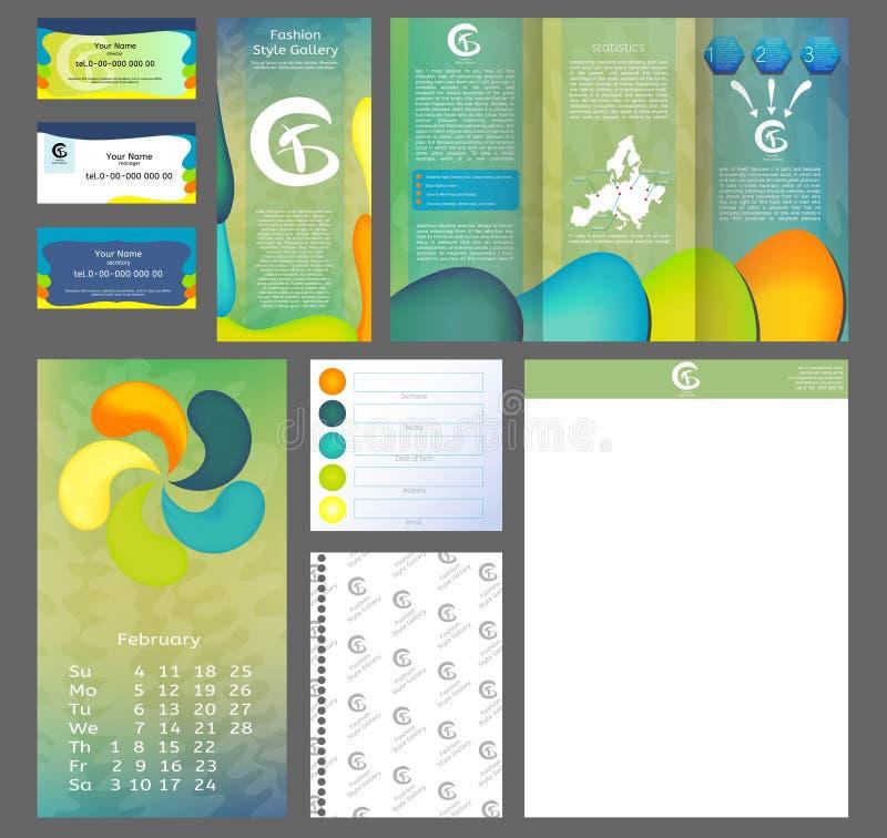 Brochure design, business flyer size A4 template, creative leaflet, design template set. Modern front page. stock illustration