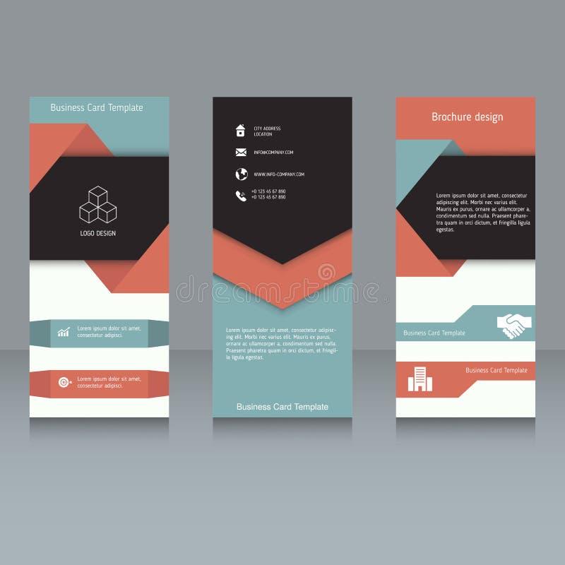 Brochure design template stock illustration