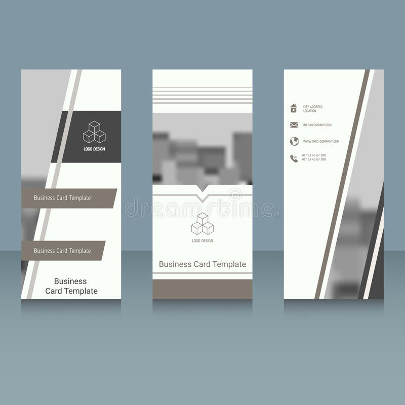 Brochure design template royalty free illustration