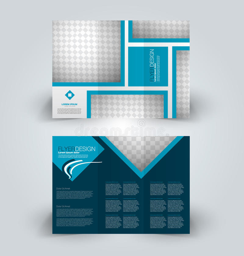 Brochure design template for business education advertisement. Trifold booklet. Brochure template. Business trifold flyer. Creative design trend for professional royalty free illustration