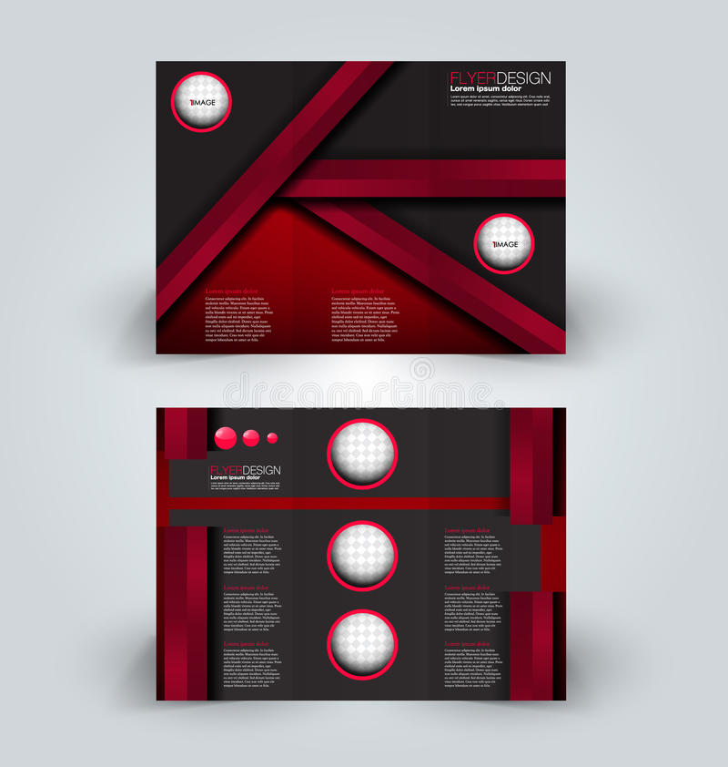 Brochure design template for business education advertisement. Trifold booklet. Brochure tri-fold design template for business, education, advertisement. Trifold stock illustration
