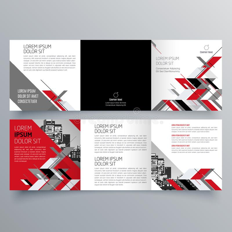Brochure design, brochure template, creative tri-fold, trend brochure. Vector design stock illustration