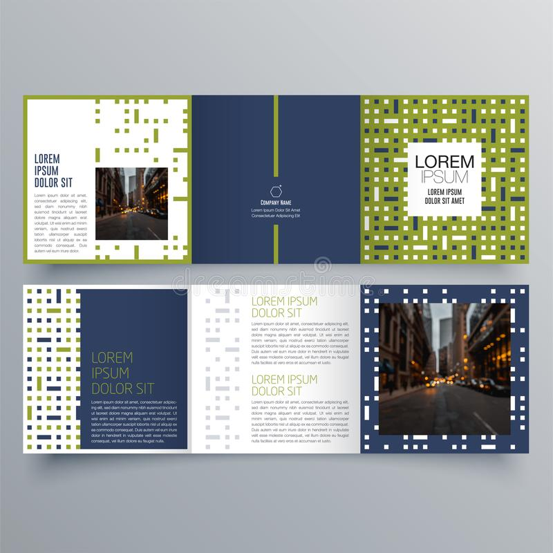 Brochure design, brochure template, creative tri-fold, trend brochure. Business concept royalty free illustration