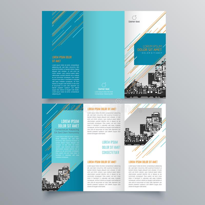 Brochure design, brochure template, creative tri-fold, trend brochure. Vector design royalty free illustration