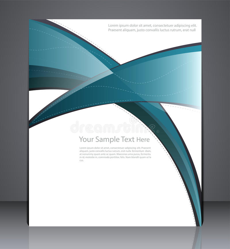 Brochure Design Template, leaflet, magazine cover, or a web site. Page royalty free illustration