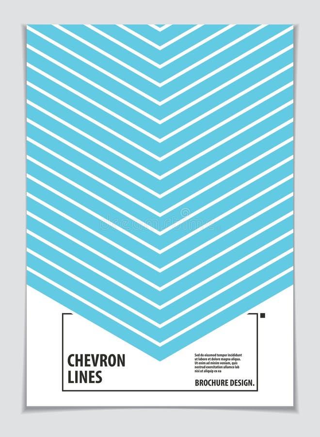 Brochure Design Template minimaal ontwerp Moderne Geometrische Abstract patroonvector achtergrond Gestreepte lijn getextureerde g vector illustratie