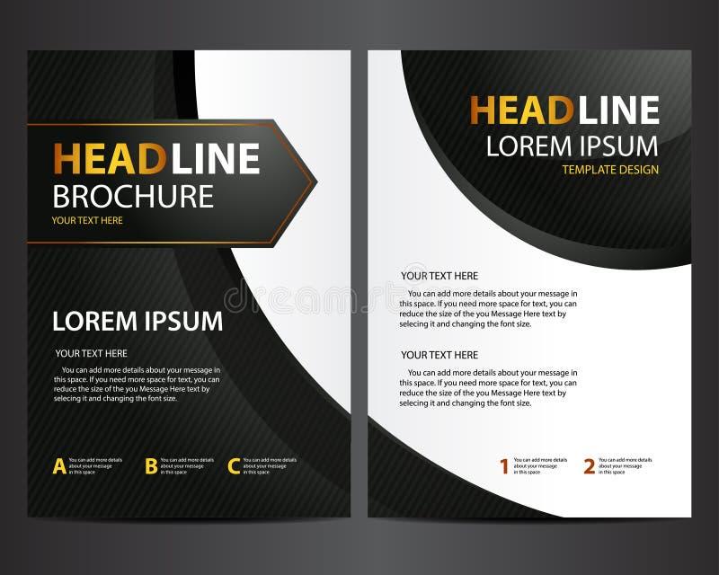 download brochure design template modern black with golden text stock vector illustration of gradation