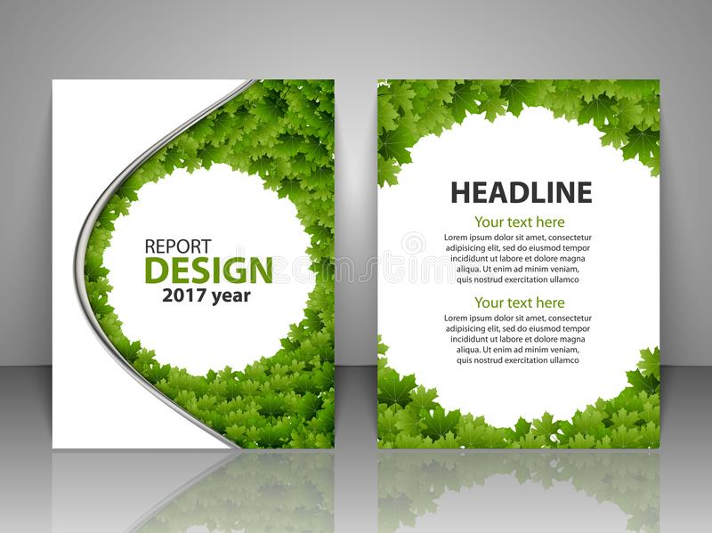 Brochure design template. Report, flyer, business layout, presentation template A4 size. royalty free illustration