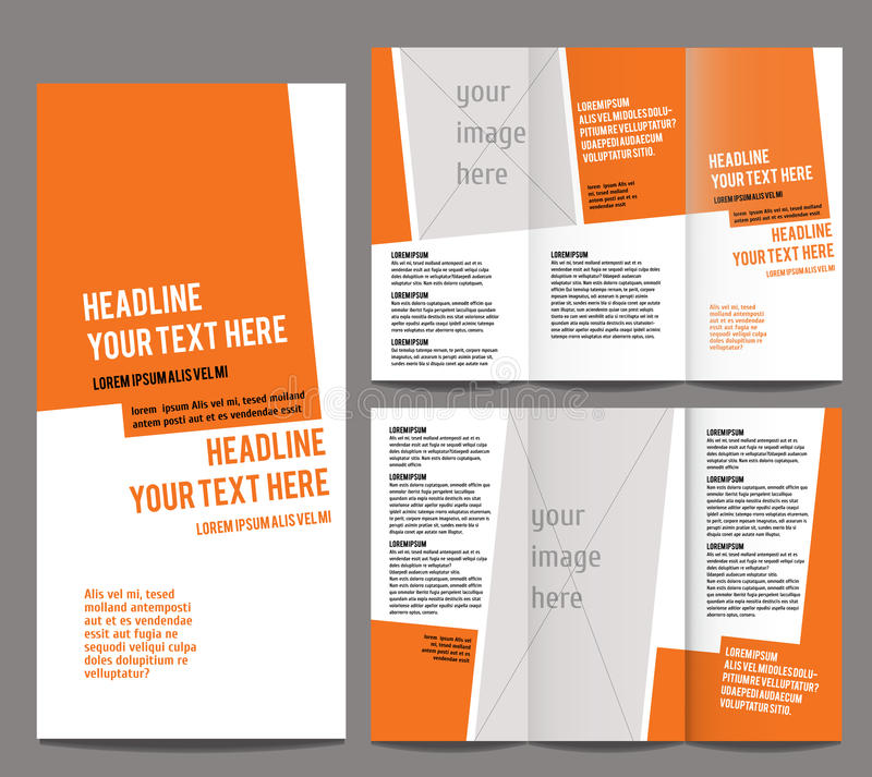 Brochure design template vector trifold royalty free illustration