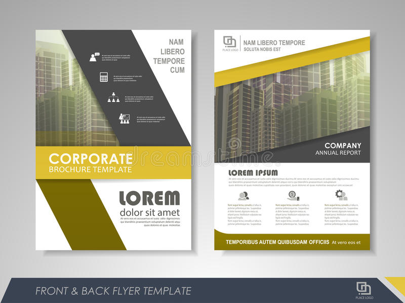 Brochure Template And Infographics Stock Vector Illustration Of Logotype Digital