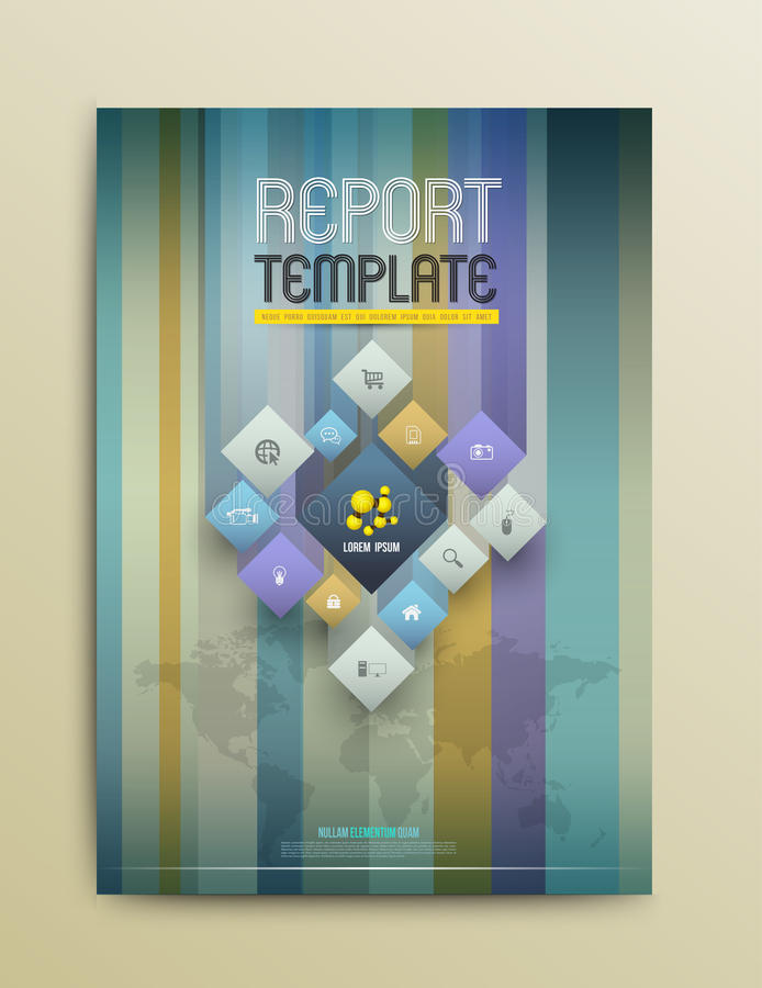 Brochure Design Templates. Abstract Flyer Modern Backgrounds. stock illustration