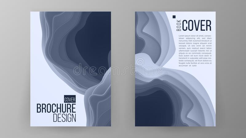 Brochure Design Vector. Magazine Poster. Annual Report Cover. Ilustration stock illustration