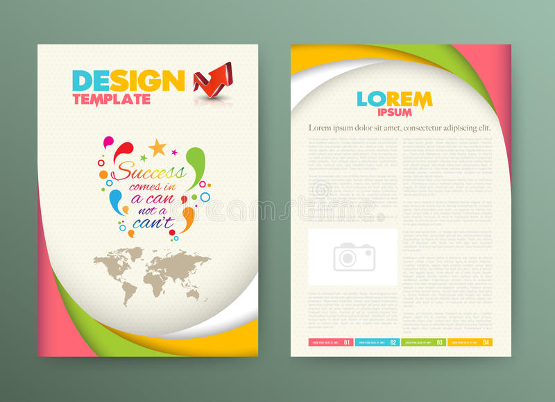 Brochure Flyer design Layout template with success vector illustration