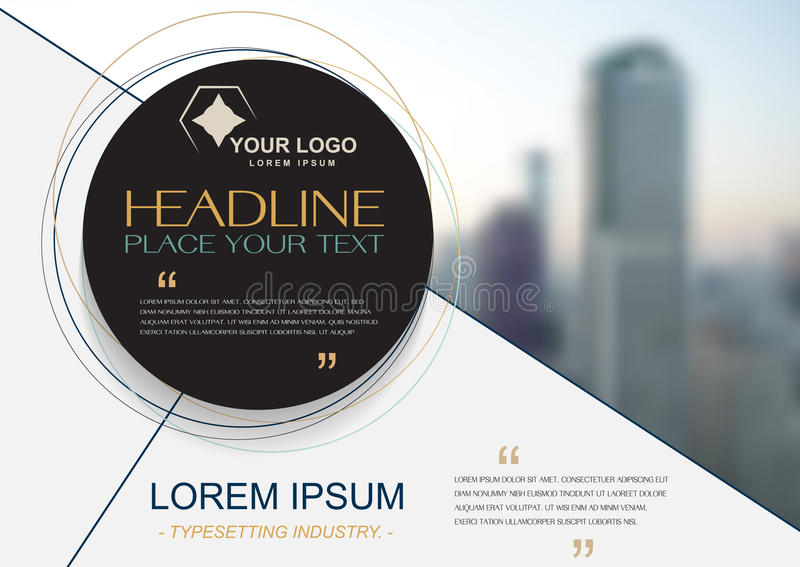 Brochure flyer design template , cover presentation abstra stock illustration