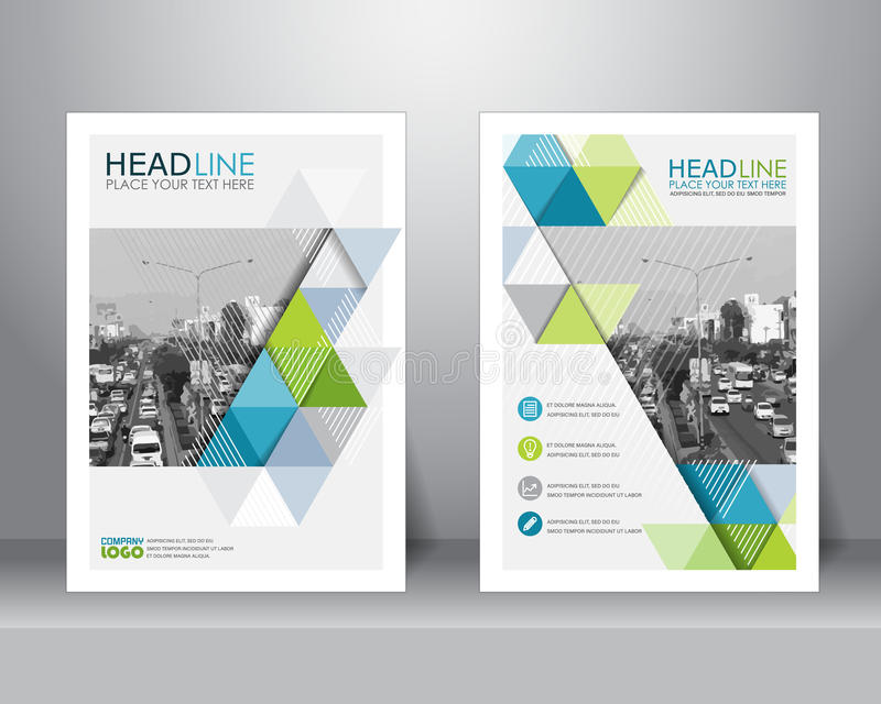Brochure flyer design template. vector. Formal business brochure flyer design layout template in A4 size. can be use for poster, banner, graphic element, leaflet royalty free illustration