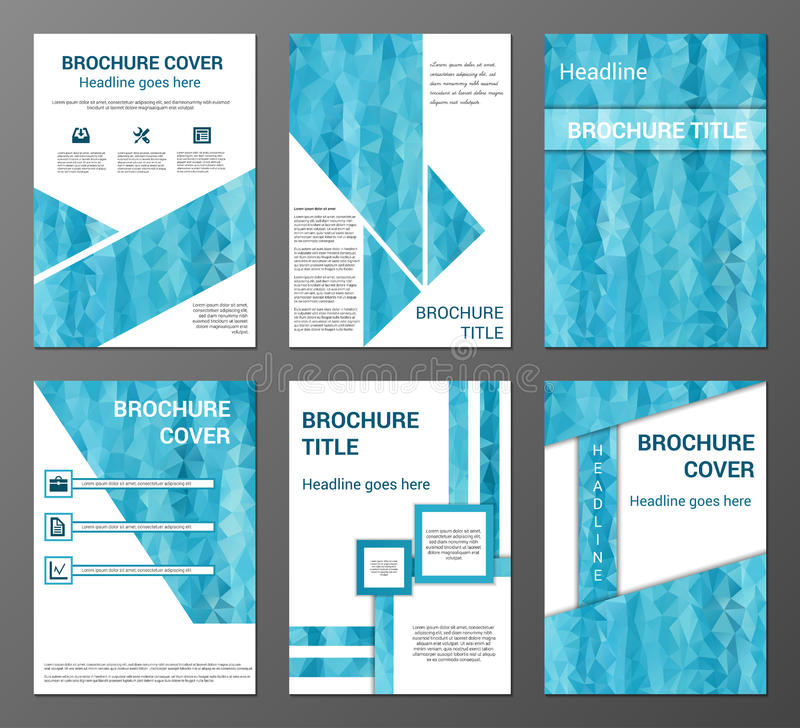 Brochure and flyer design templates set stock vector for Brochure front cover design