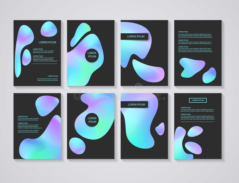 Brochure flyer layouts with abstract colorful background royalty free illustration