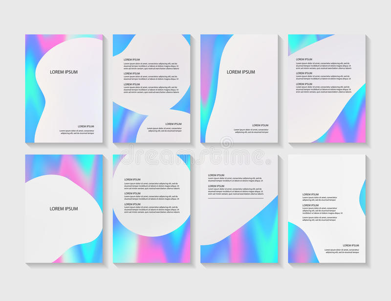 Brochure flyer layouts with abstract colorful background stock illustration