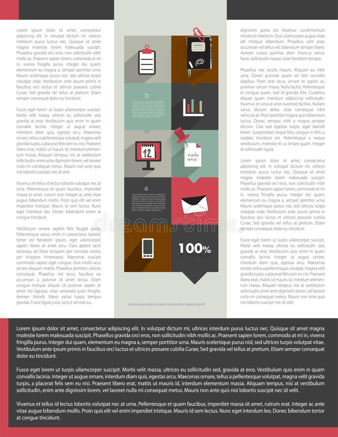 Brochure, flyer, newsletter, annual report layout template. Business background concept royalty free illustration