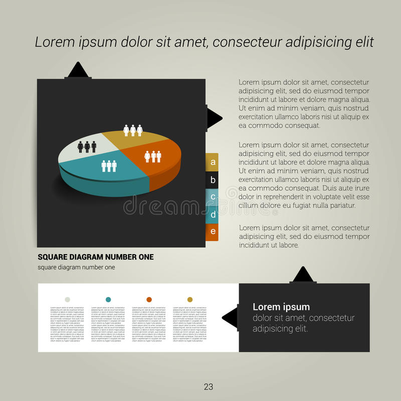 Brochure, flyer, newsletter, annual report layout template. Business background concept stock illustration