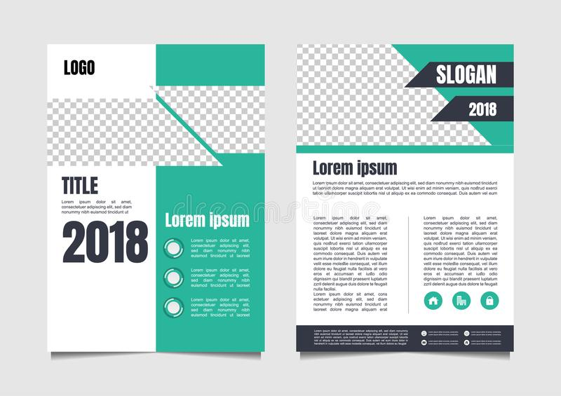 Brochure or flyer page design for advertisement stock illustration