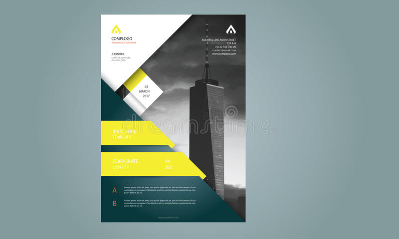 Brochure Flyer Template stock photography