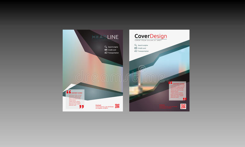 Brochure Flyer Template royalty free stock images