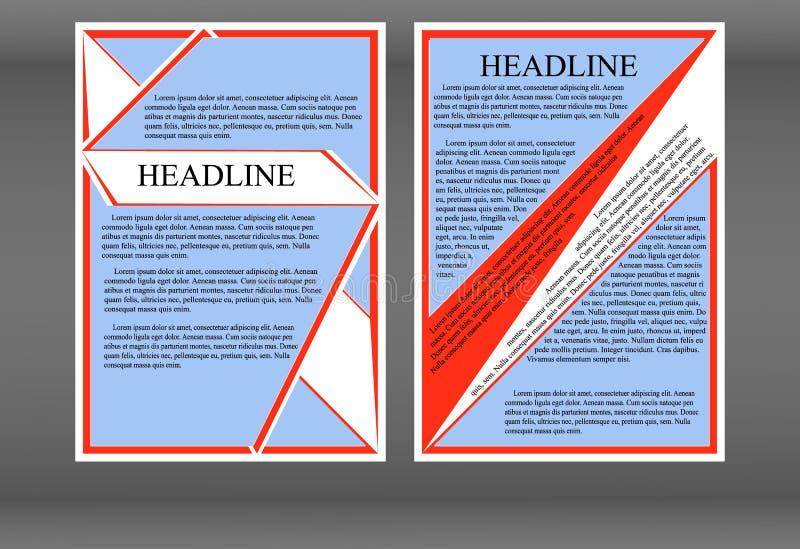 Brochure geometrische projectie van de avantgarde vector illustratie