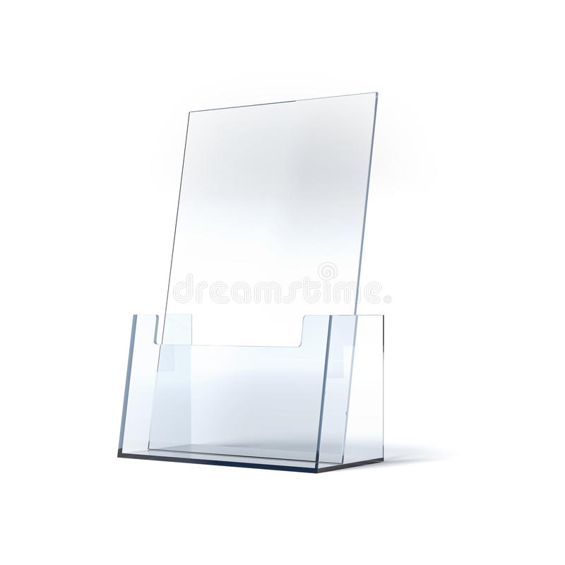 Brochure holder. Blank Brochure holder isolated on white background stock illustration