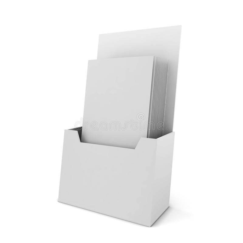 Brochure holder. 3d illustration on white background vector illustration