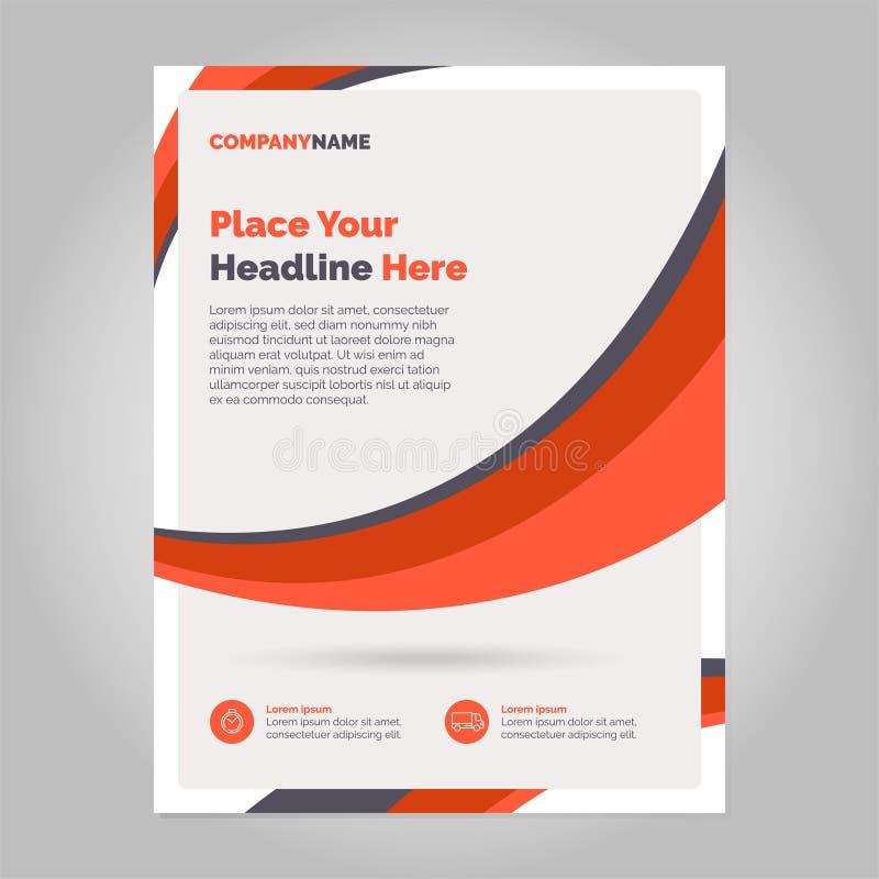 Brochure Layout design royalty free illustration