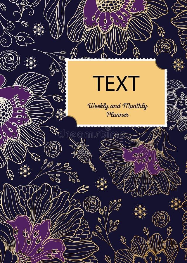 Brochure layout design. Flower composition. royalty free illustration
