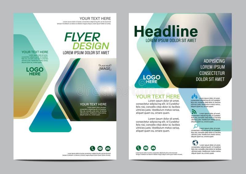 Brochure Layout design template. Annual Report Flyer Leaflet cover Presentation Modern background. illustration in A4. Green Brochure Layout design template royalty free illustration