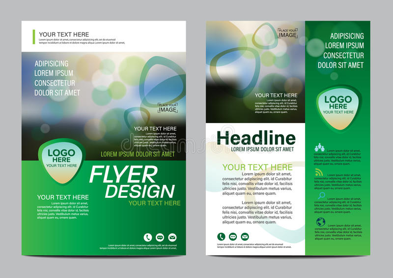 Brochure Layout design template. Annual Report Flyer Leaflet cover Presentation Modern background. illustration in A4. Green Brochure Layout design template vector illustration