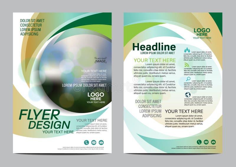 Brochure Layout design template. Annual Report Flyer Leaflet cover Presentation Modern background. illustration in A4. Green Brochure Layout design template stock illustration