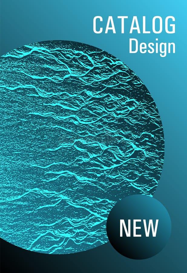 Brochure layout design template. royalty free illustration