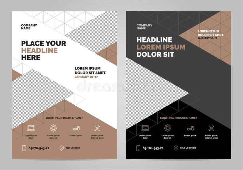 Brochure Layout template design royalty free illustration