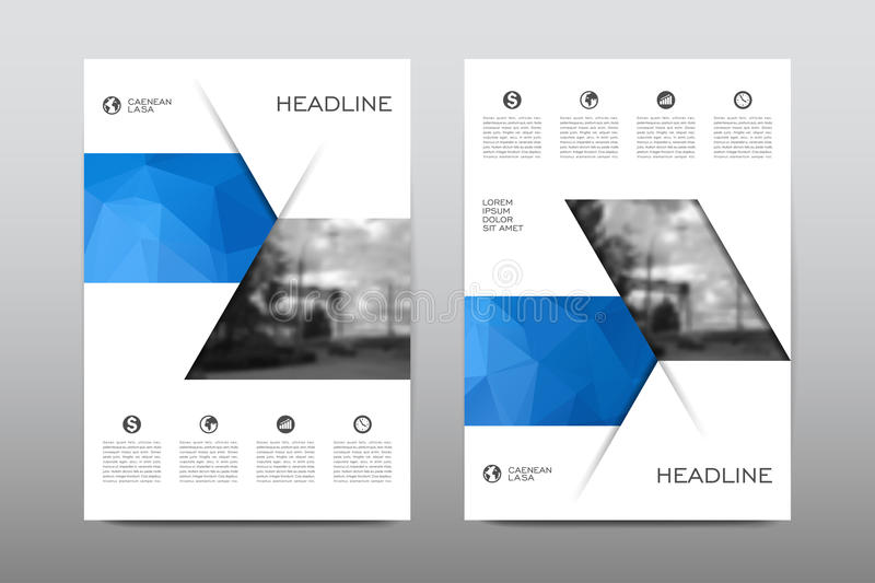 Brochure layout template flyer design vector, Magazine booklet cover abstract background royalty free illustration