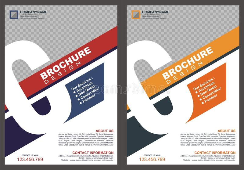 Brochure with letter `C` logo style cover. With two color choices, simple - modern and luxury design stock illustration