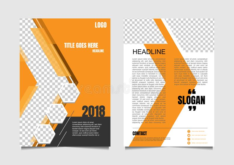 Brochure or magazine page design for advertisement. arrow style royalty free illustration