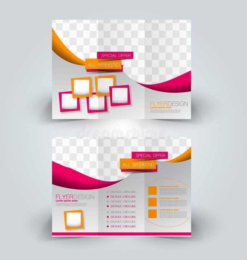 Brochure mock up design template for business stock illustration