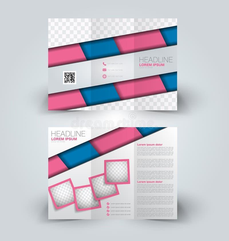 Brochure mock up design template for business, education, advertisement. stock illustration