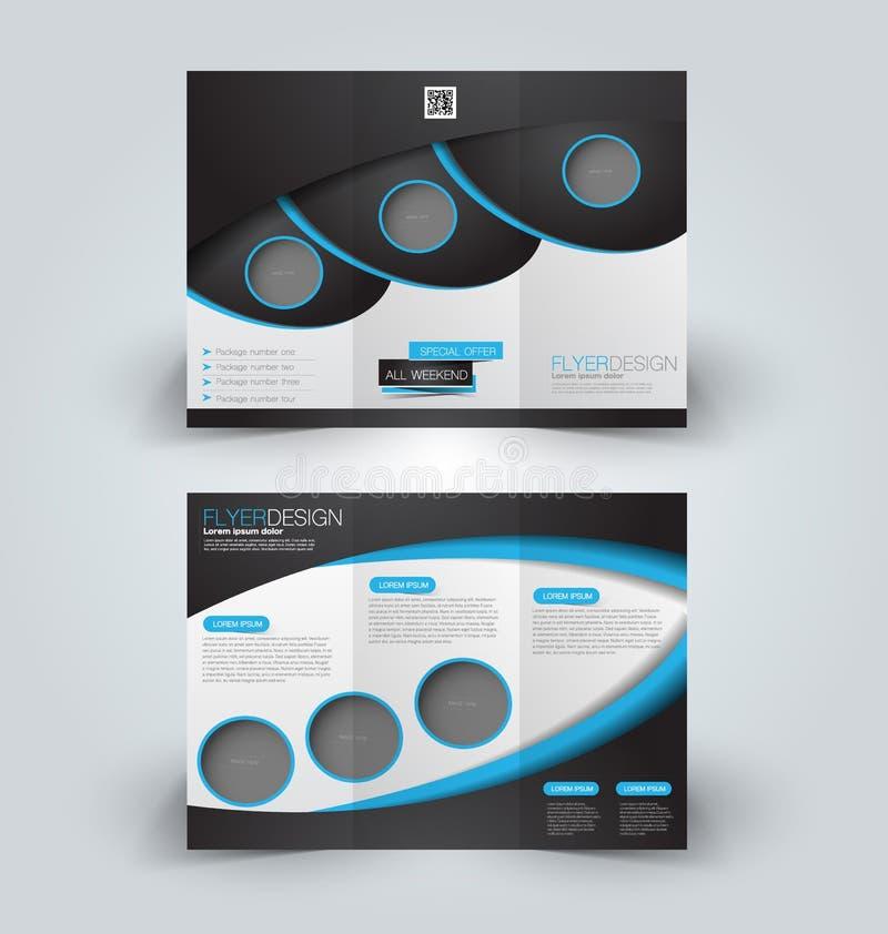 Brochure mock up design template for business, education, advertisement. royalty free illustration