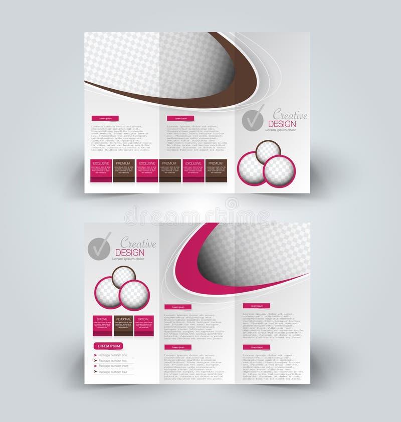 Brochure mock up design template for business, education, advertisement. vector illustration