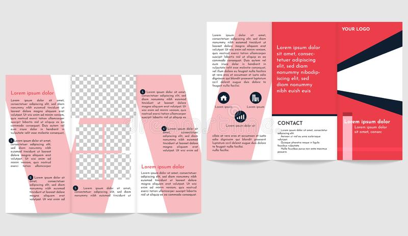 Brochure modern business trifold flyer template stock illustration